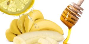 Банан, лимон, мед