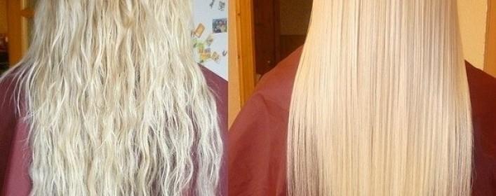 волосы до и в после кератинового выпрямления