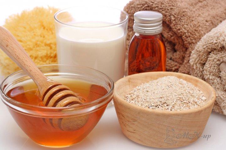 Мед, молоко, коньяк, полотенца