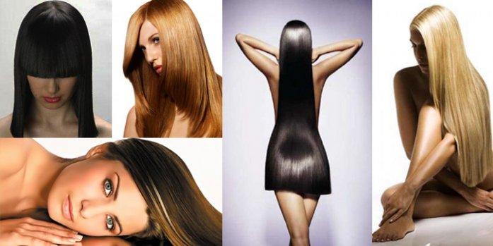 перманентное выравнивание волос