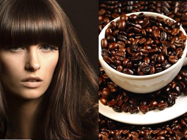 Зерна кофе и девушка