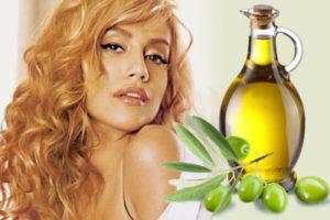 Девушка и оливковое масло