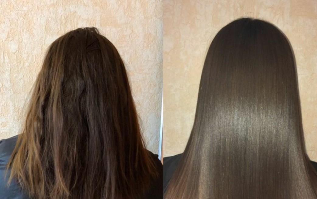 Применение кокосового масла для волос ДО и ПОСЛЕ