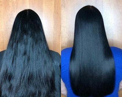 ламинирование волос_до и после